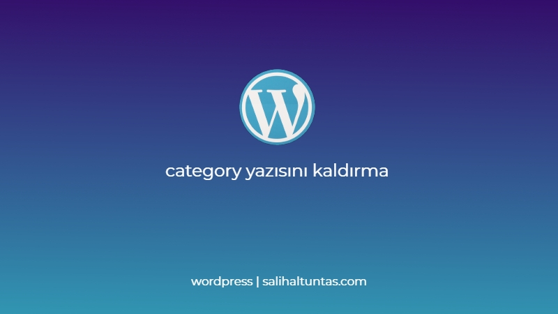 wordpress category yazısı kadlırma