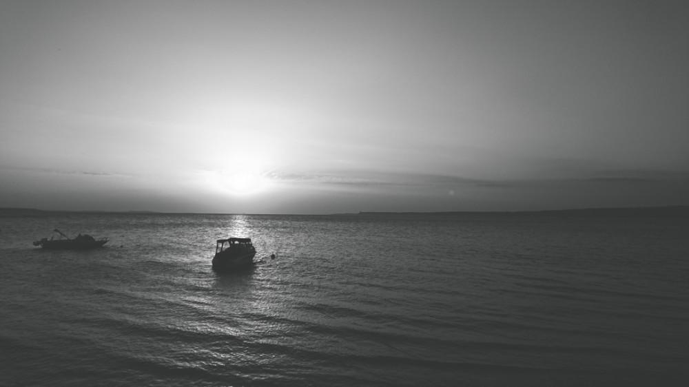 Çanakkale Boğazı'nda gün batımı