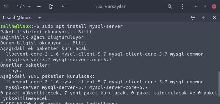 ubuntu mysql server install