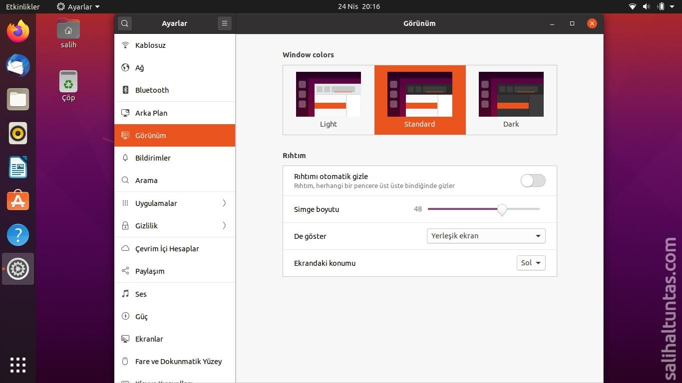 Ubuntu koyu tema