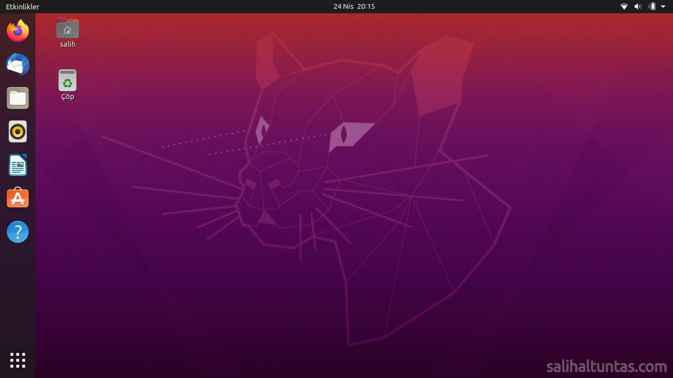 ubuntu 20.04 gnome masaüstü