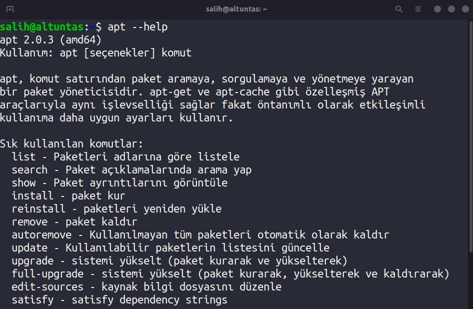 linux help komutu