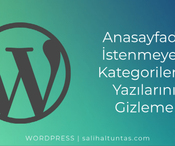 Wordpress Anasayfada İstenmeyen Kategorilerin Yazılarını Gizleme