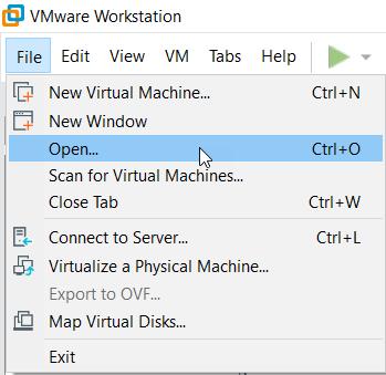 vmware sanal dosya açma