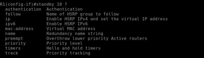 hsrp group number options